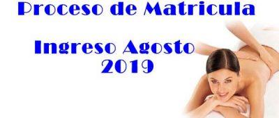 Banner Matricula Agosto 2019